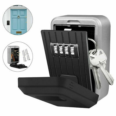 Wall Mounted/Padlock 4 Digit Combination Key Lock Storage Security Box Home J4L2