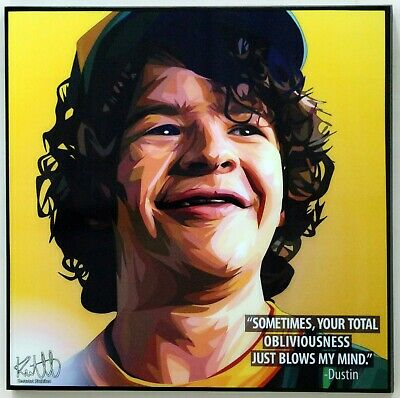 Stranger Thing - Dustin Henderson canvas wall decals painting POP ART poster