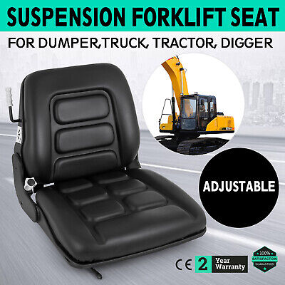 Forklift Dumper Suspension Seat Tractor chair PVC Boat New Local
