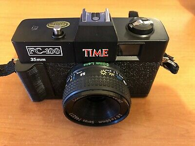 Vintage 1987 TIME Magazine Promotional 35mm Film Camera with 50mm Lens & Case