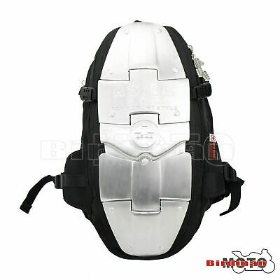 Back Spine Protector Motorcycle Bike Riding ALUMINIUM ARMOUR Backpack Rucksack