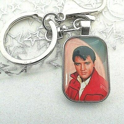 Elvis Presley Singer Photo Key Ring Lobster Claw & Swivel Chain With Gift Box