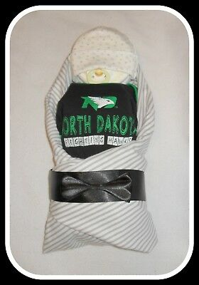 Neutral UND Fighting Hawks Themed Diaper Cake Baby-Gorgeous Centerpiece/Gift