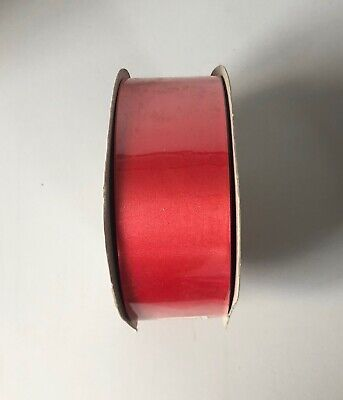 """Florist Poly Ribbon  - Satine 100 yards - 2"""" wide Red"""