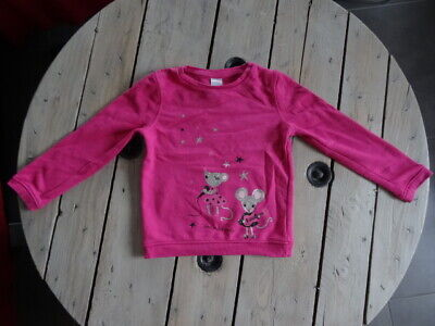 Sweat rose fuchsia impression star souris pALOMINO Taille 6 Ans 116 cm