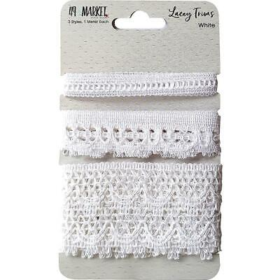 NEW 49 And Market Lacey Trims - White