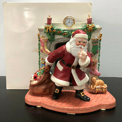 Lenox The Night Before Christmas Santa Mantle with Clock Figurine Limited Ed Box