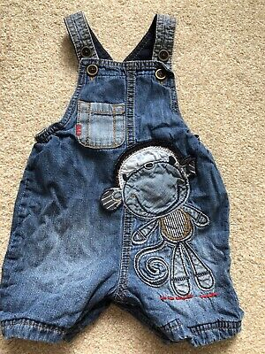 NEXT Baby Boys Denim Dungarees Age 3-6 Months Blue