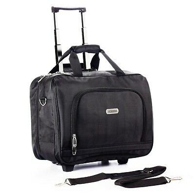 Rolling Briefcase on 2 Wheels Rolling Laptop Bag Rolling Computer