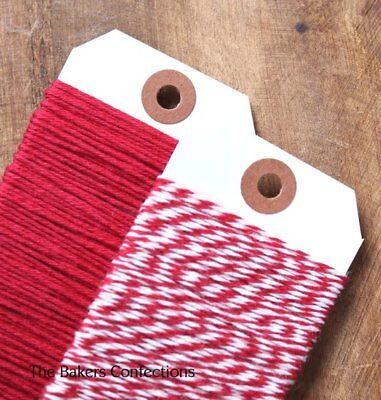 Bakers Xmas Twine - RED WHITE - Gift Wrap Parcel Craft String