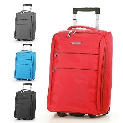 "Foldable Rolling 20"" Bag Carry on Luggage Travel Lightweight Black Red Blue"