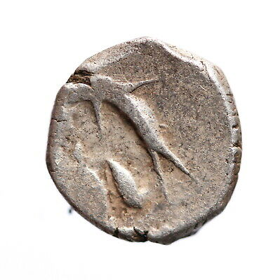 Ancient Celtic  Greek Silver Drachm Coin,  Gaul, present-day France