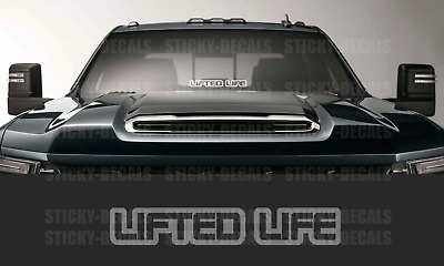 Merica Lifted Truck Decal 32 Windshield Banner Window Car