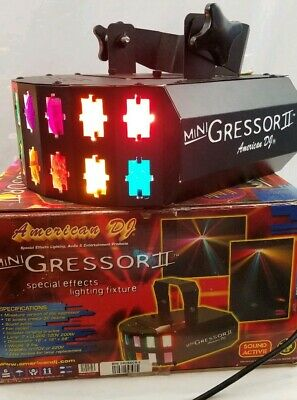 American DJ Mini Gressor II DJ Lighting, Tested Working.  NEVER USED