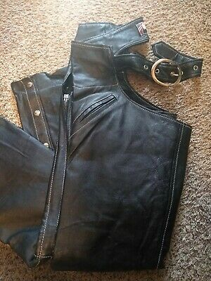 New Leather Chaps Size M Unisex USA Bikers Dream Apparel
