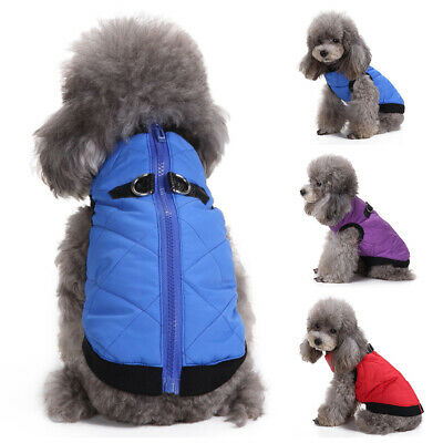 Winter Dog Coats Pet Cat Puppy Chihuahua Clothes Hoodie Warm for Small Dog S~XL