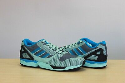 ADIDAS ZX FLUX Weave Us 10.5 White Black Onix Grey Originals