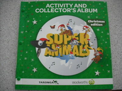 Woolworths Super Animals Christmas Edition Album And Full Set Of Cards