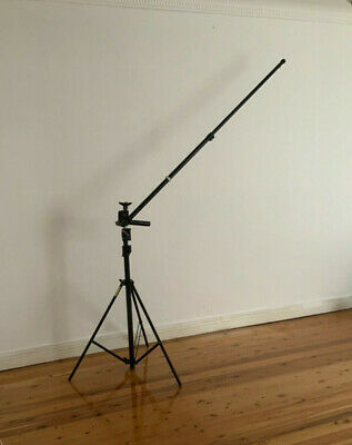 Manfrotto 256BUAC Stand With Manfrotto 254B Boom Arm
