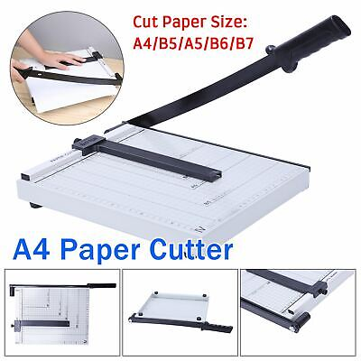 Heavy Duty Professional A4 Paper Guillotine Cutter Trimmer Machine Home Office L