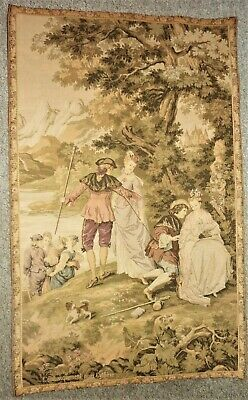 """Superb Idyllic French Vintage Wall Tapestry """" L'embarquement Pour Cythere"""""""