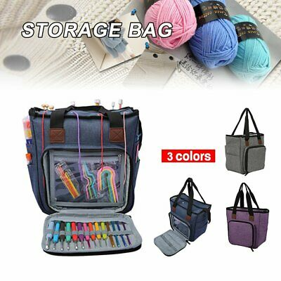 Knitting Bag Yarn Storage Craft Tote Inner Divider For Wool Crochet Needles S4