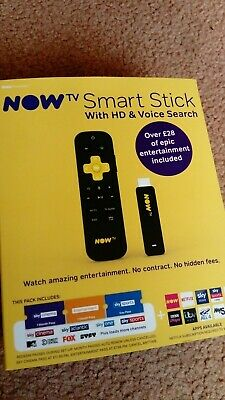 Now TV Smart Stick + cinema entertainment sports latest nowtv bbci uktv itv HD