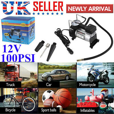 Heavy Duty 12v Car Air Compressor 100PSI Tyre Deflator Portable Inflator Pump ME