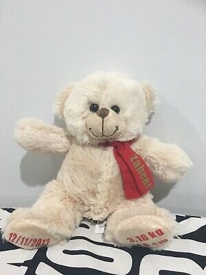 **Clearance**Personalised Birth Teddy Bear - Baby Gift