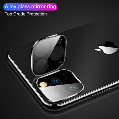 For iPhone 11 Pro Max Full Cover HD Tempered Glass Camera Lens Protector Metal