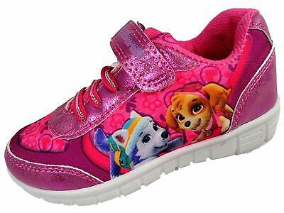 Girls Paw Patrol Pink Trainers Adjustable Fasteners And Elasticated Laces