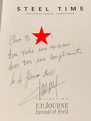 "FP JOURNE SIGNED book ""STEEL TIME COLLECTION"" Chronometre Souverain. RARE Bleu"