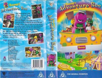 Barney's Adventure Bus  Vhs Video Pal~ A Rare Find~