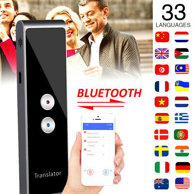 2 Way Smart Portable Voice Translator Instant 33 Multi Language Learn +APP 2.4G