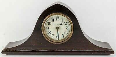 "ANTIQUE Seth Thomas MINIATURE Camel Back Mantle Clock  8"" Salesman's Sample"