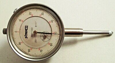 "Dial Indicator .001"" TO 0-1'' Phase II Machinist Metal Working Tool Measuring"