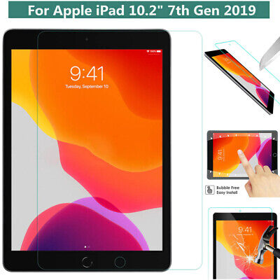 New iPad Screen protector Tempered Glass for Apple iPad 10.2 7th Generation 2019