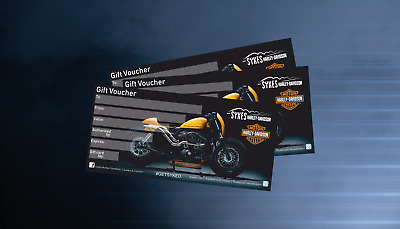 Harley-Davidson Gift Voucher!!!!! Any Amount Available!!!!