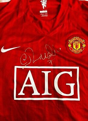 Signed Cristiano Ronaldo Manchester United Top VERY RARE
