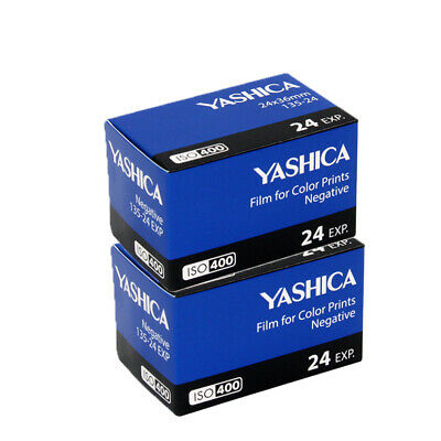 New 2 Rolls Yashica 400 35mm ISO400 135-24EXP Color Negative Film Fresh 07/2021