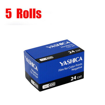 New 5 Rolls Yashica 400 35mm ISO400 135-24EXP Color Negative Film Fresh 07/2021