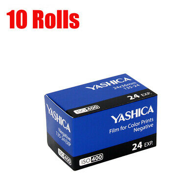 New 10 Rolls Yashica 400 35mm ISO400 135-24EXP Color Negative Film Fresh 07/2021