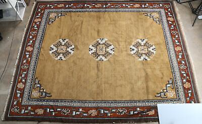Large Vintage Semi-Antique Mongolian Carpet