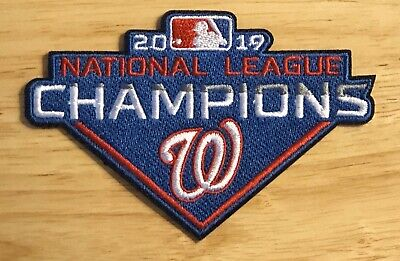 2019 Washington Nationals National League Champions Patch World Series Iron Mlb