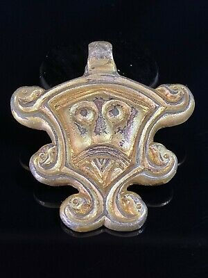 Extremely Fine Norse Viking Era Silver Gilt Pendant