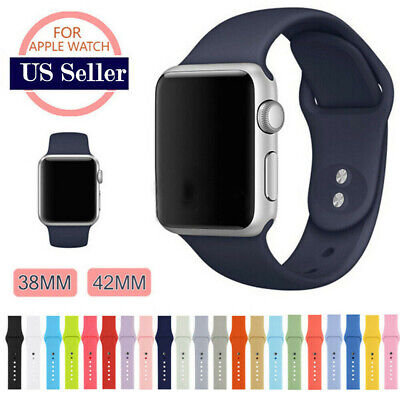 Sports Silicone Band Strap For Apple Watch iWatch Series 2/3/4/5 38/42/40/44mm