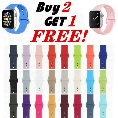 Silicone Band Strap For Apple Watch 3/4/5 iWatch Sports Series 38/42mm /40/44mm