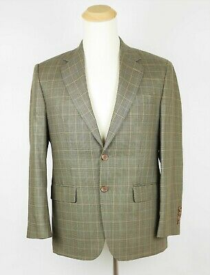 RALPH LAUREN Men's 38 S - Brown & black glen plaid wool silk blazer suit jacket