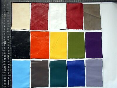 Brand New 15 piece GENUINE LEATHER CRAFT PANELS , SCRAPS, OFF CUTS - Lot A23