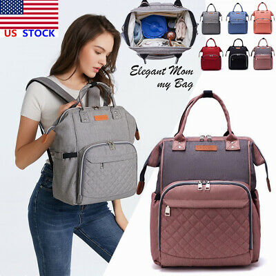LEQUEEN Mummy Maternity Nappy Diaper Bag  Baby Travel Backpack Tote Handbag